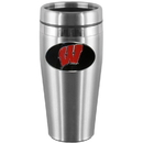 Siskiyou Buckle CTMS51 Wisconsin Badgers Steel Travel Mug