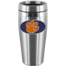 Siskiyou Buckle CTMS69 Clemson Tigers Steel Travel Mug