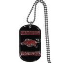 Siskiyou Buckle CTN12 Arkansas Razorbacks Tag Necklace