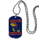 Siskiyou Buckle CTN21 Kansas Jayhawks Tag Necklace