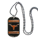 Siskiyou Buckle CTN22 Texas Longhorns Tag Necklace