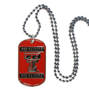 Siskiyou Buckle CTN30 Texas Tech Raiders Tag Necklace