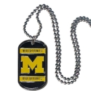 Siskiyou Buckle CTN36 Michigan Wolverines Tag Necklace