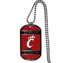 Siskiyou Buckle CTN37 Cincinnati Bearcats Tag Necklace