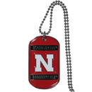 Siskiyou Buckle CTN3 Nebraska Cornhuskers Tag Necklace