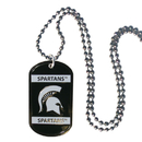 Siskiyou Buckle CTN41 Michigan St. Spartans Tag Necklace