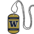 Siskiyou Buckle Washington Huskies Tag Necklace, CTN49