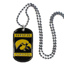 Siskiyou Buckle CTN52 Iowa Hawkeyes Tag Necklace