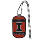 Siskiyou Buckle CTN55 Illinois Fighting Illini Tag Necklace