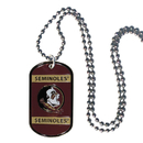 Siskiyou Buckle CTN7 Florida St. Seminoles Tag Necklace