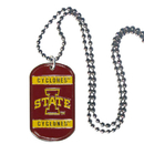 Siskiyou Buckle CTN83 Iowa St. Cyclones Tag Necklace