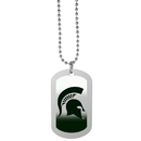 Siskiyou Buckle Michigan St. Spartans Team Tag Necklace, CTNP41