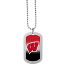 Siskiyou Buckle Wisconsin Badgers Team Tag Necklace, CTNP51