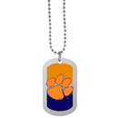 Siskiyou Buckle Clemson Tigers Team Tag Necklace, CTNP69