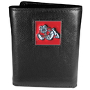 Siskiyou Buckle CTR100 Fresno St. Bulldogs Deluxe Leather Tri-fold Wallet Packaged in Gift Box