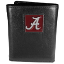 Siskiyou Buckle CTR13 Alabama Crimson Tide Deluxe Leather Tri-fold Wallet Packaged in Gift Box