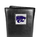 Siskiyou Buckle CTR15 Kansas St. Wildcats Deluxe Leather Tri-fold Wallet Packaged in Gift Box