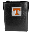Siskiyou Buckle CTR25 Tennessee Volunteers Deluxe Leather Tri-fold Wallet Packaged in Gift Box