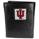 Siskiyou Buckle CTR39 Indiana Hoosiers Deluxe Leather Tri-fold Wallet Packaged in Gift Box