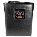 Siskiyou Buckle CTR42 Auburn Tigers Deluxe Leather Tri-fold Wallet Packaged in Gift Box