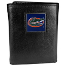Siskiyou Buckle CTR4 Florida Gators Deluxe Leather Tri-fold Wallet Packaged in Gift Box