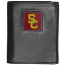 Siskiyou Buckle CTR53 USC Trojans Deluxe Leather Tri-fold Wallet Packaged in Gift Box