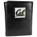 Siskiyou Buckle CTR56 Cal Berkeley Bears Deluxe Leather Tri-fold Wallet Packaged in Gift Box
