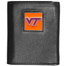 Siskiyou Buckle CTR61 Virginia Tech Hokies Deluxe Leather Tri-fold Wallet Packaged in Gift Box