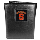 Siskiyou Buckle CTR62 Syracuse Orange Deluxe Leather Tri-fold Wallet Packaged in Gift Box