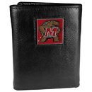 Siskiyou Buckle CTR64 Maryland Terrapins Deluxe Leather Tri-fold Wallet Packaged in Gift Box