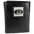 Siskiyou Buckle CTR67 Missouri Tigers Deluxe Leather Tri-fold Wallet Packaged in Gift Box