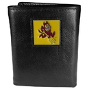 Siskiyou Buckle CTR68 Arizona St. Sun Devils Deluxe Leather Tri-fold Wallet Packaged in Gift Box