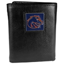 Siskiyou Buckle CTR73 Boise St. Broncos Deluxe Leather Tri-fold Wallet Packaged in Gift Box