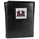 Siskiyou Buckle CTR75BX Montana Grizzlies Deluxe Leather Tri-fold Wallet