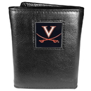 Siskiyou Buckle CTR78 Virginia Cavaliers Deluxe Leather Tri-fold Wallet Packaged in Gift Box