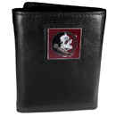 Siskiyou Buckle CTR7 Florida St. Seminoles Deluxe Leather Tri-fold Wallet Packaged in Gift Box