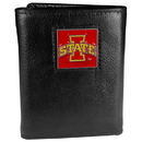 Siskiyou Buckle CTR83 Iowa St. Cyclones Deluxe Leather Tri-fold Wallet Packaged in Gift Box
