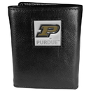Siskiyou Buckle CTR84 Purdue Boilermakers Deluxe Leather Tri-fold Wallet Packaged in Gift Box