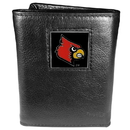 Siskiyou Buckle CTR88 Louisville Cardinals Deluxe Leather Tri-fold Wallet Packaged in Gift Box