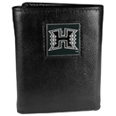 Siskiyou Buckle CTR99 Hawaii Warriors Deluxe Leather Tri-fold Wallet Packaged in Gift Box