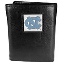 Siskiyou Buckle CTR9 N. Carolina Tar Heels Deluxe Leather Tri-fold Wallet Packaged in Gift Box