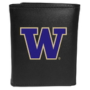 Siskiyou Buckle CTRL49 Washington Huskies Tri-Fold Wallet Large Logo