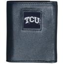 Siskiyou Buckle CTRN112 TCU Horned Frogs Leather Tri-fold Wallet