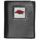 Siskiyou Buckle CTRN12 Arkansas Razorbacks Leather Tri-fold Wallet