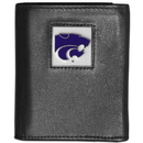Siskiyou Buckle CTRN15 Kansas St. Wildcats Leather Tri-fold Wallet