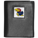 Siskiyou Buckle CTRN21 Kansas Jayhawks Leather Tri-fold Wallet
