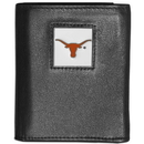 Siskiyou Buckle CTRN22 Texas Longhorns Leather Tri-fold Wallet