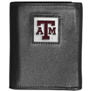 Siskiyou Buckle CTRN26 Texas A & M Aggies Leather Tri-fold Wallet