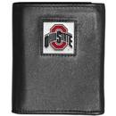 Siskiyou Buckle CTRN38 Ohio St. Buckeyes Leather Tri-fold Wallet