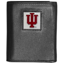 Siskiyou Buckle CTRN39 Indiana Hoosiers Leather Tri-fold Wallet